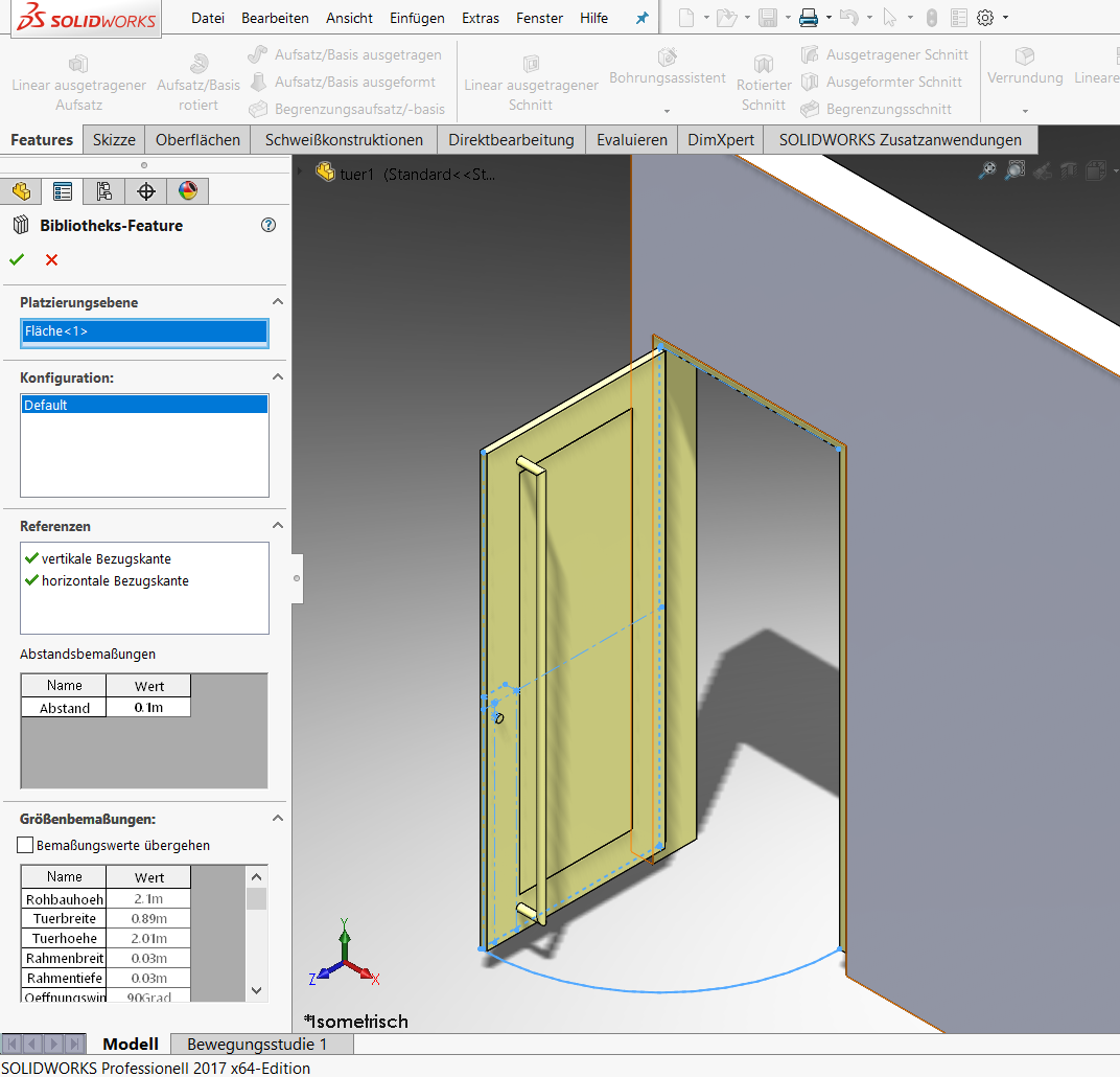 SOLIDWORKS Bibliotheksfeatures
